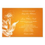Elegant Wedding Poppy Orange 5x7 Paper Invitation Card