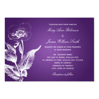 Elegant Wedding Poppy Purple Card