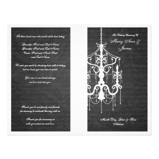 Elegant Wedding Program Chandelier Black Full Color Flyer