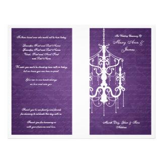 Elegant Wedding Program Chandelier Purple Full Color Flyer