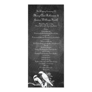 Elegant Wedding Program Love Birds Black Personalized Invitations