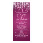 Elegant Wedding Program Night Dazzle Berry Pink Personalized Announcements