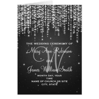 Elegant Wedding Program Night Dazzle Black