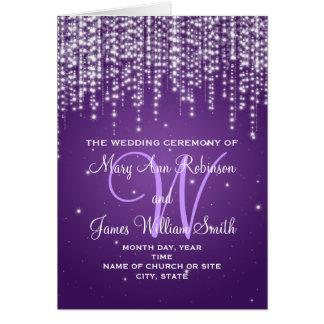 Elegant Wedding Program Night Dazzle Purple