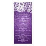 Elegant Wedding Program Paisley Lace Purple