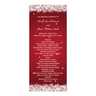 Elegant Wedding Program Party Sparkle Red