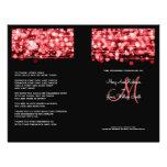Elegant Wedding Program Party Sparkles Red Flyer Design
