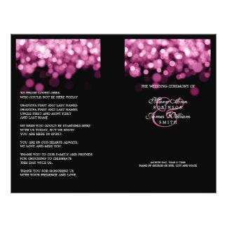 Elegant Wedding Program Pink Lights