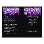 Elegant Wedding Program Purple Lights Flyers