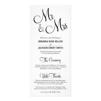 Elegant Wedding Program / Simple Wedding Program