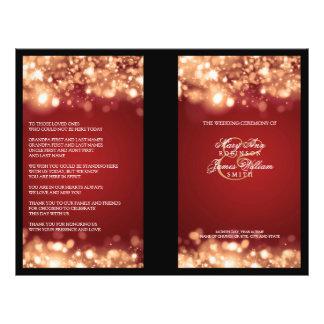 "Elegant Wedding Program Sparkling Lights Gold 8.5"" X 11"" Flyer"