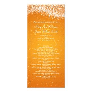 Elegant Wedding Program Sparkling Wave Orange