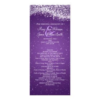 Elegant Wedding Program Sparkling Wave Purple