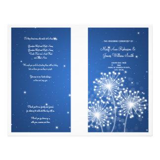 Elegant Wedding Program Summer Sparkle Sapphire Flyers