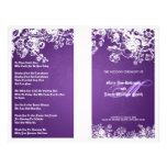Elegant Wedding Program Victorian Flourish Purple Full Color Flyer