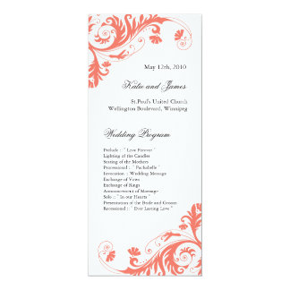 Elegant  Wedding Programs Custom Announcement