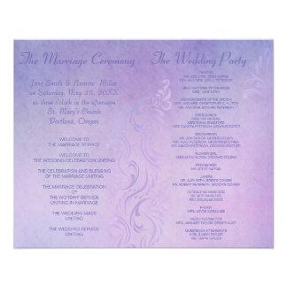 "Elegant wedding programs - Purple 4.5"" X 5.6"" Flyer"