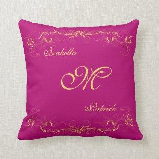 Elegant Wedding Purple Custom Pillow