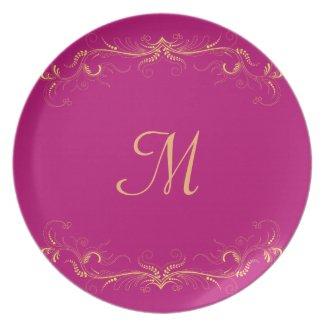 Elegant Wedding Purple Custom Plate