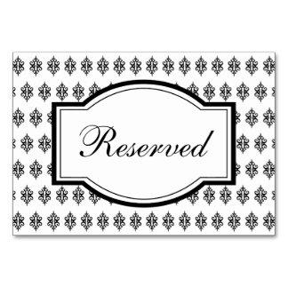 Elegant Wedding Reception Conference Table Card