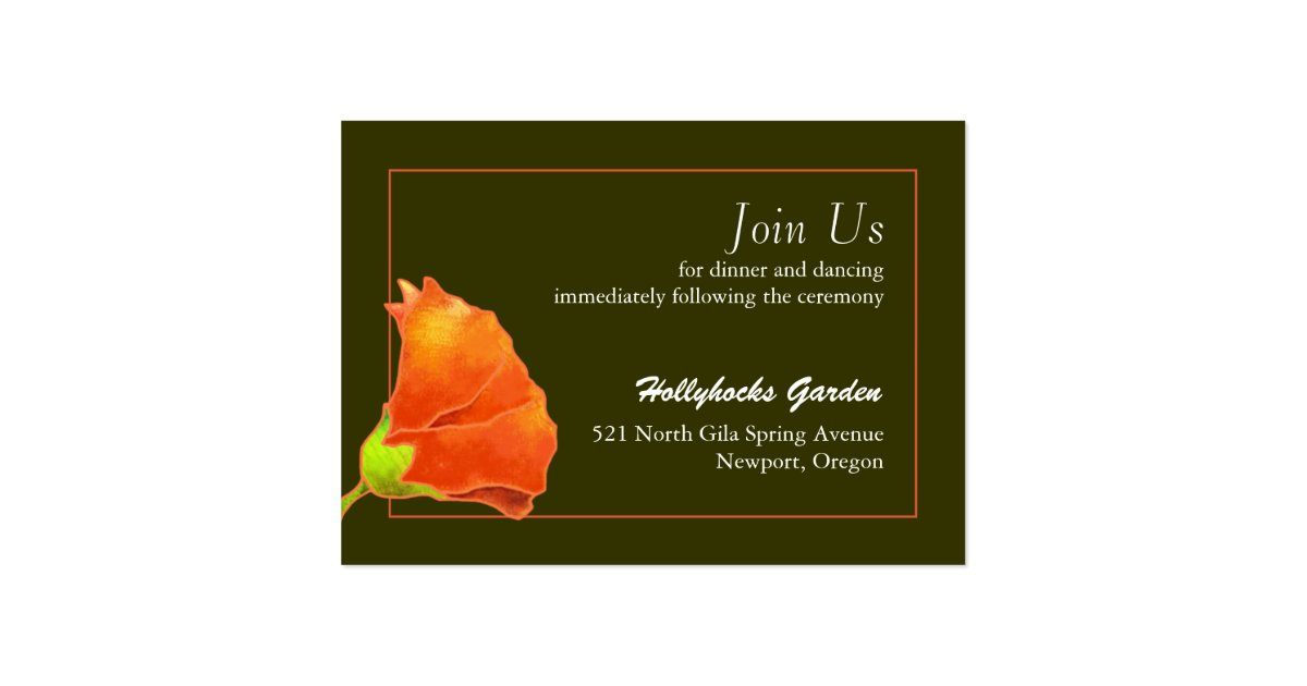Elegant Wedding Reception Enclosure Card