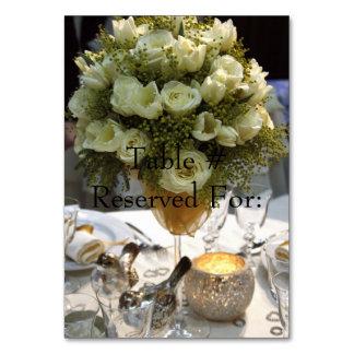Elegant Wedding Reception Table # Cards