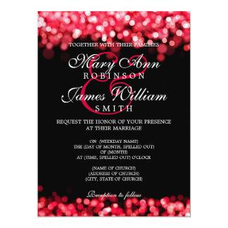 Elegant Wedding Red Lights Card