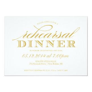 Elegant Wedding Rehearsal Dinner Invitation