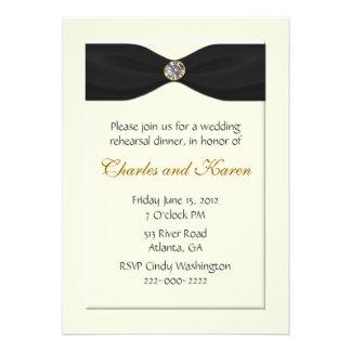 Elegant Wedding Rehearsal Invitation