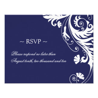 Elegant Wedding Reply Cards Custom Announcements