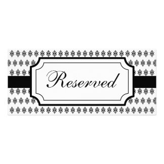 Elegant Wedding Reserved Seating Card Table Sign