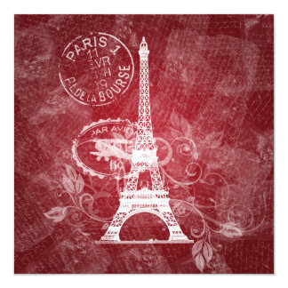 Elegant Wedding Romantic Paris Red Card