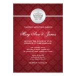 Elegant Wedding Royal Crown Red Card