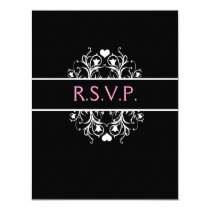 elegant wedding RSVP Card