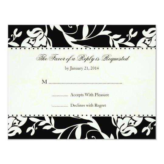 Elegant Wedding RSVP Cards