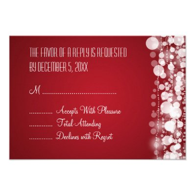 Elegant Wedding RSVP Dotted Red Personalized Invitation