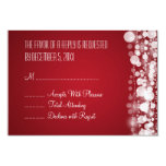 "Elegant Wedding RSVP Dotted Red 3.5"" X 5"" Invitation Card"