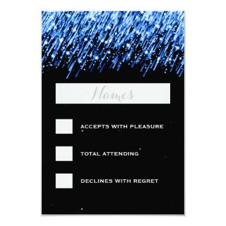 "Elegant Wedding RSVP Falling Stars ""Sapphire Blue"" Card"