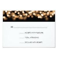 Elegant Wedding RSVP Gold Hollywood Glam 3.5x5 Paper Invitation Card (<em>$1.96</em>)