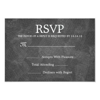 Elegant Wedding RSVP Romantic Paris Black Card