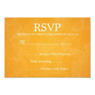 Elegant Wedding RSVP Romantic Paris Orange 3.5x5 Paper Invitation Card