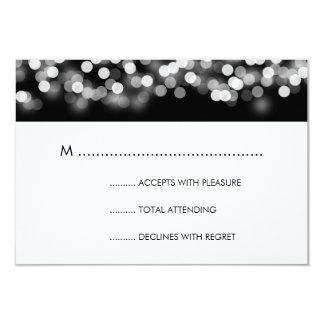Elegant Wedding RSVP Silver Hollywood Glam Card