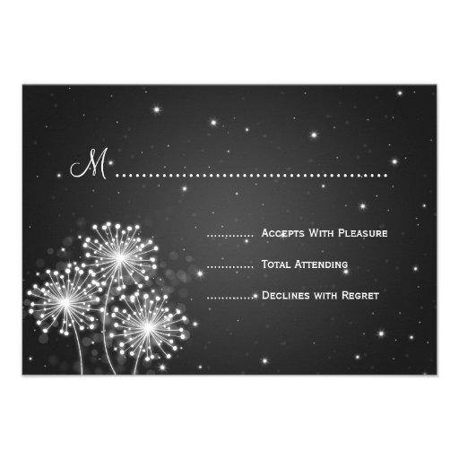 Elegant Wedding RSVP Summer Sparkle Black Personalized Invitation