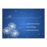 Elegant Wedding RSVP Summer Sparkle Sapphire Blue 3.5x5 Paper Invitation Card