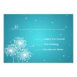 Elegant Wedding RSVP Summer Sparkle Turquoise 3.5x5 Paper Invitation Card
