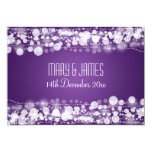 "Elegant Wedding Save The Date Dotted Purple 5"" X 7"" Invitation Card"