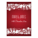 """Elegant Wedding Save The Date Dotted Red 5"""" X 7"""" Invitation Card"""