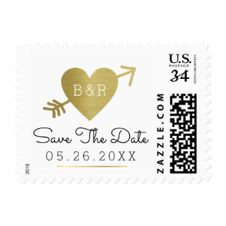 elegant wedding save-the-date postage