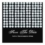 "Elegant Wedding Save The Date Silver Diamonds 5.25"" Square Invitation Card"