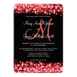 Elegant Wedding Save The Date Sparkles Red Personalized Invitations
